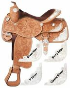 Silver Royal Premium Grand Majestic Silver Show Silver Star Trim Saddle Package
