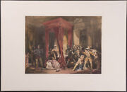 Lawson - Queen Maryand039s Bedchamber. 29 - 1854 - Scotland Hand-colored Lithograph