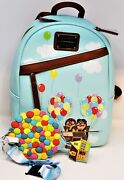 Disney Loungefly Backpack Carl Ellie Up Pixar Adventure Is Out There + Lanyard