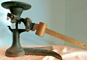 Antique Fairbanks Cast Iron Store Scale Crows Foot Fish Tail Black /brass 2 Arm