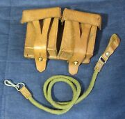 Original Leather Pouch For Mosin Nagant Ammo Belt Case And Strap Pistol Nagan