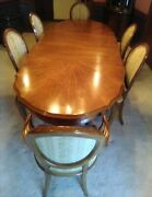 Formal Oval Dining Table Set With Chairs Leaves Pads