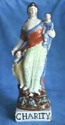 Antique English Pearlware Charity Staffordshire Figure Enoch Wood Woman Figure