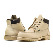 Vanvien Work Boots For Men Smooth Leather, Oil And Slip Resistant, Dielectric