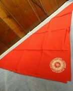 Bsa Boy Scouts - 1935 National Jamboree Red Leaders Neckerchief Full Square