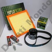 Service Kit Dayco Belts Hiflo Air Oil Filter 2 Champion Spark Plugs For Ducati