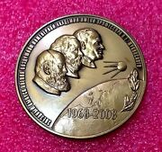 Russian Space Academy Medal Famous Astronauts -first Russian And First Jewish