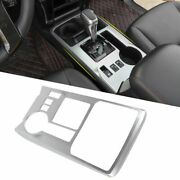 Center Console Gear Shift Panel Cover Trim For Toyota 4runner 2010-19 Sliver