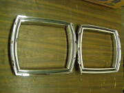 New Repro. 1966 Ford Galaxie 500 Tail Light Bezels - Tail Lamp Trim