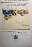 1934 Cape Town South Africa Airmail First Flight Cover To Suva Fiji Via Sydney
