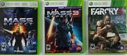 Mass Effect Mass Effect 3 Far Cry 3 Lot Of 3 Xbox 360 Games Complete