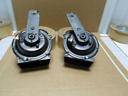 Real Gm 1969 Corvette Orig Lh And Rh 12v Horns 9000 245 246 Dated 9a4 9a5 Ncrs