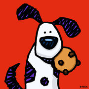 Ed Heck If You Give A Dog A Cookie Pigmentdruck Auf Leinwand