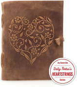 Genuine Leather Journal For Women - Beautiful Handmade Leather Bound Notebook -