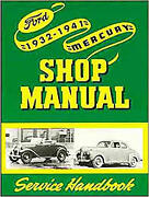 1932-41 Ford Shop Manual Service Instructions Book Bk-2
