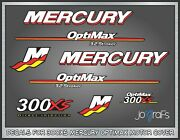 Mercury 300xs Optimax Decal Kit - Outboard Engine Replacement Die-cut Stickers