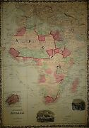 Vintage 1863 Africa Map Old Antique Original And Authentic Atlas Map Quick N Free