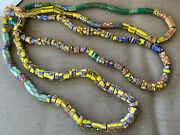 Old African Italian Trade Bead Necklace 3 Strands 72 179 Beads 19 Millefiori