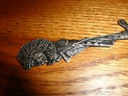 Vintage Sterling Silver - Indian Chief - 7 Decorative Letter Opener - Canada