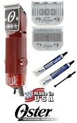 Oster Professional Hair Stylist Barber Classic 76 Clipper Set 000 And 1 Blade