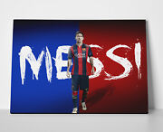 Lionel Messi Red Blue Poster Or Canvas