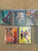 1992 Marvel Masterpieces Complete Lost Ladies Insert Card Set, Lm1-lm5 - Nm/m