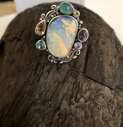 Echo Of The Dreamer /mars And Valentine Opal Ring