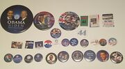 Barack Obama 2008/2009 Presidential Campaign And Inauguration Button Lot 30