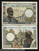 West African States Ivory Coast 5000 5000 Francs P-104 A J 1977 Currency Note