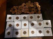 117 Au To Uncirculated Wheat Pennies Lincoln Cents