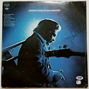 Johnny Cash Signed Iconic Live At San Quentin Album 1969 A Boy Named Sue Psa/dna