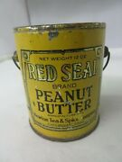 Vintage Advertising Red Seal Brand Peanut Butter Pail Tin 317-i