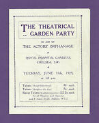 Fred Astaire Theatrical Garden Party Funny Face 1929 London Benefit Flyer