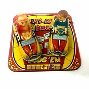 Marx Toys Dipsy Doodle Bug Dodge And039em With Two Cars