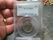 1924 Buffalo Nickle In Pcgs Ms66 Uncirculated Condition
