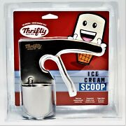 Rite Aid Thrifty Ice Cream Scooper Scoop Vintage Style Stainless Steel Cylinder