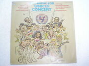Music For Unicef Concert Abba Onj Bee Gees Kris Kristofferson Lp India 303 Vg++