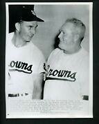 Rogers Hornsby And Tommy Byrne 1952 Press Photo St. Louis Browns