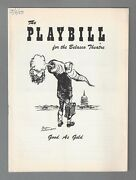 Zero Mostel Good As Gold Roddy Mcdowall / Paul Ford 1957 Flop Opening Playbill