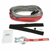 Warn 96040 100 Ft Spydura Pro Synthetic Rope Rated For 16,500 Lb Winches