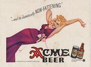1940 Acme Beer Advertising Page By Petty Of Pretty Woman On Phone