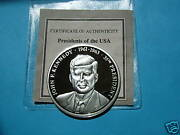 John F Kennedy President Of The Usa 999 Silver Rare Item Very Cool