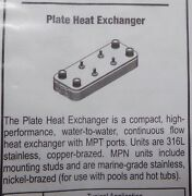 Central Boiler Part 5769 Heat Exchanger 1 1/4 Ports 5x12x 30 Plate Stainless