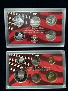 2005 Us Mint Silver Proof Set 11 Piece Silver Set With State Quarters