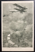 Mint Germany Picture Postcard German Airplane Over Paris