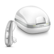 1 Signia Pure Chargeandgo 7x Ric Hearing Aid Motion Sensing 4d Hearing + Charger