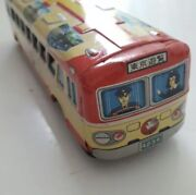 Tin Toys Hato Bus 1960s Made In Japan Vintage Used Ems