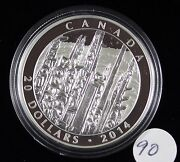2014 Emily Car Totem Forest Rcm Proof Silver 20 Dollar Coin