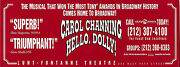 Carol Channing Hello Dolly Jerry Herman / Lunt-fontanne Theatre 1995 Flyer