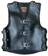 3mm Heavy Duty Thick A Grade Cow Hide Motorcycle Club Leather Vest Plain Sm-4xl